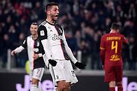 Rodrigo Bentancur of Juventus celebrates after scoring the goal of 2-0 <br /> Torino 22/01/2020 Juventus Stadium <br /> Football Italy Cup 2019/2020 <br /> Juventus FC - AS Roma <br /> Photo Federico Tardito / Insidefoto