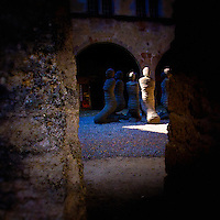Carl Bucher's The Petrified in the Gruyère's castle courtyard