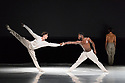 London, UK. 26.06.2018. Nederlands Dans Theater 1 presents a mixed bill at Sadler's Wells theatre, comprising work by Leon & Lightfoot, Pite and Goecke. The piece shown is: STOP MOTION, by Leon and Lightfoot. The dancers are: Roger Van Der Poel, Jorge Nozal, Jianhui Wang, Meng-Ke Wu, Sarah Reynolds, Chloe Albaret, Prince Credell, Marne van Opstal. Picture shows: Roger Van der Poel, Prince Credell. Photograph © Jane Hobson.