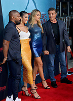 """LOS ANGELES, USA. August 14, 2019: Jamie Foxx, Corinne Foxx, Sistine Stallone & Sylvester Stallone at the premiere of """"47 Meters Down: Uncaged"""" at the Regency Village Theatre.<br /> Picture: Paul Smith/Featureflash"""
