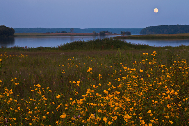 Moonrise over Big Sandy River