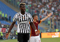 Calcio, Serie A: Roma vs Juventus. Roma, stadio Olimpico, 30 agosto 2015.<br /> Juventus&rsquo; Paul Pogba reacts during the Italian Serie A football match between Roma and Juventus at Rome's Olympic stadium, 30 August 2015.<br /> UPDATE IMAGES PRESS/Riccardo De Luca