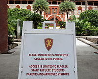 St. Augustine, FL June 27th: Flagler College is just one of a few notable attractions closed to the public due to COVID-19.  St. Augustine, Florida June 27th, 2020 Credit: Edward Kerns II/MediaPunch<br /> CAP/MPI/EK2<br /> ©EK2/MPI/Capital Pictures