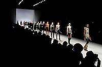 Models display creations of Spain designer Custo Barcelona during the New York Fashion Week 2015 in New York. 15.12.2015. Eduardo Munoz Alvarez/VIEWpress.