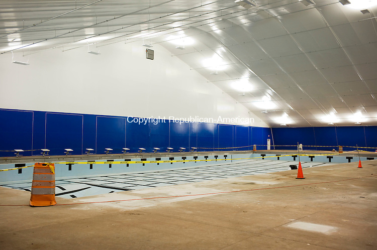 Cheshire, CT- 15 January 2016-011516CM03-  The newly renovated Cheshire Community Pool is shown on Friday.  The pool features a steel-supported roof that is a lot stronger than the previous bubble and is less likely to collapse in the winter.    Christopher Massa Republican-American