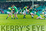 David Moran scores Kerrys first goal against Limerick in the Final of the McGrath Cup at the Gaelic Grounds on Sunday.