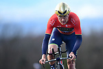 Heinrich Haussler (AUS) Bahrain-Merida in action during Stage 4 of the Paris-Nice 2018 an 18km individual time trial running from La Fouillouse to Saint-Etienne, France. 7th March 2018.<br /> Picture: ASO/Alex Broadway | Cyclefile<br /> <br /> <br /> All photos usage must carry mandatory copyright credit (&copy; Cyclefile | ASO/Alex Broadway)