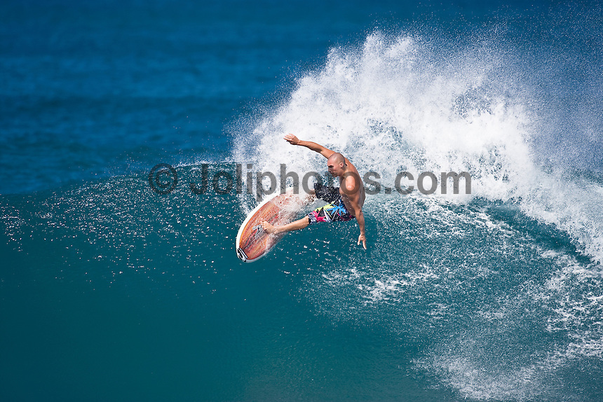 TIMMY REYES (USA) surfing at Rocky Point, North Shore of Oahu, Hawaii. Photo: joliphotos.com