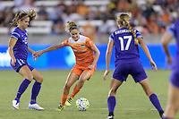 Houston, TX - Saturday Sept. 03, 2016: Alex Morgan, Morgan Brian during a regular season National Women's Soccer League (NWSL) match between the Houston Dash and the Orlando Pride at BBVA Compass Stadium.