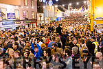 The crowd celebrating New Year in Dingle.