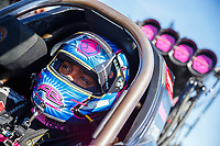 Sep 30, 2017; Madison , IL, USA; NHRA top fuel driver Antron Brown during qualifying for the Midwest Nationals at Gateway Motorsports Park. Mandatory Credit: Mark J. Rebilas-USA TODAY Sports