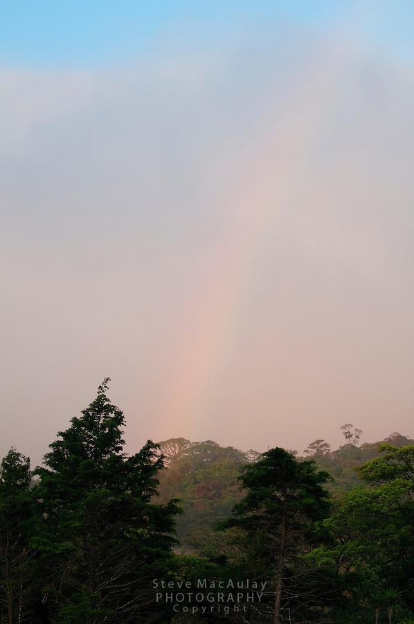 Rainbow over Santa Elena, Costa Rica