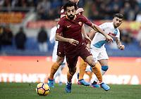 Roma&rsquo;s Mohamed Salah in action during the Serie A soccer match between Roma and Napoli at the Olympic stadium, 4 March 2017.<br /> UPDATE IMAGES PRESS/Isabella Bonotto