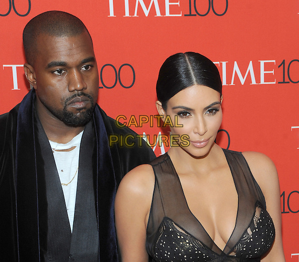 New York, NY- April 21: Kanye West and Kim Kardashian West  attend the TIME 100 Gala at the Frederick P. Rose Hall on April 21, 2015 in New York  City. <br /> CAP/MPI/STV<br /> &copy;STV/MPI/Capital Pictures