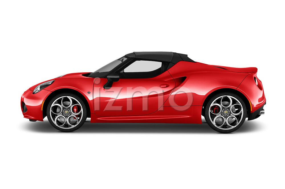 Car Driver side profile view of a 2016 Alfaromeo 4C - 2 Door Convertible Side View