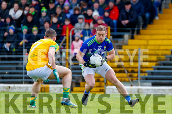Stephen O'Brien, Kerry in action against Donal Keogan, Meath during the Allianz Football League Division 1 Round 4 match between Kerry and Meath at Fitzgerald Stadium in Killarney, on Sunday.