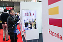 A visitor drinks wine at the Spain booth during the 41st International Food and Beverage Exhibition (FOODEX JAPAN 2016) on March 8, 2016, Chiba, Japan. 3,000 exhibitors from 78 nations are showcasing their products in Asia's largest food and beverage trade show held at Makuhari Messe. This year organisers expect 75,000 visitors during the four day show from March 8 to 11. (Photo by Rodrigo Reyes Marin/AFLO)