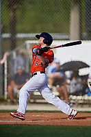 Taylor Clapp during the WWBA World Championship at the Roger Dean Complex on October 18, 2018 in Jupiter, Florida.  Taylor Clapp is a shortstop from Lake Worth, Florida who attends Park Vista Community High School.  (Mike Janes/Four Seam Images)