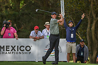 Rory McIlroy (NIR) watches his tee shot on 16 during round 2 of the World Golf Championships, Mexico, Club De Golf Chapultepec, Mexico City, Mexico. 2/22/2019.<br /> Picture: Golffile | Ken Murray<br /> <br /> <br /> All photo usage must carry mandatory copyright credit (© Golffile | Ken Murray)