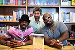 CORAL GABLES, FL - SEPTEMBER 21: Big Gipp of the Goodie Mob, Mitchell Kaplan and CeeLo Green greets fans and signs copies of his book 'Everybodys Brother' at Books and Books on September 21, 2013 in Coral Gables, Florida. (Photo by Johnny Louis/jlnphotography.com)