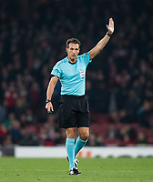 Referee Luca Banti during the UEFA Europa League group stage match between Arsenal and FC Red Star Belgrade at the Emirates Stadium, London, England on 2 November 2017. Photo by Andy Rowland.