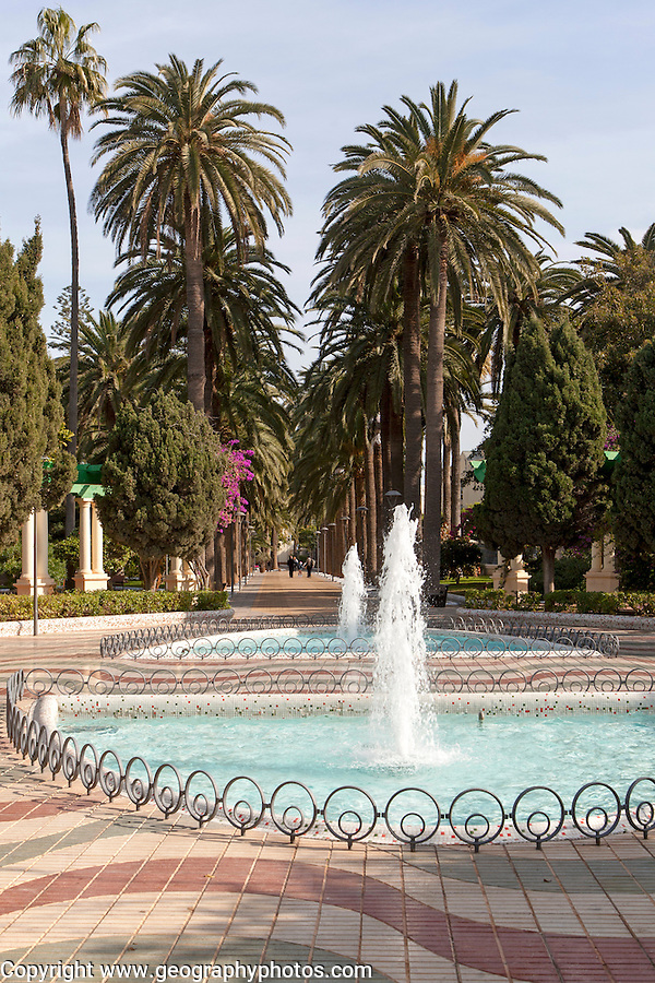 Herandez Park in Melilla autonomous city state Spanish territory in north Africa, Spain