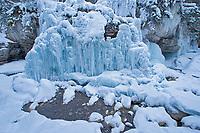 Maligne River though Maligne Canyon, Jasper National Park, Alberta, Canada