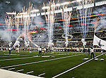Fireworks show before the Thanksgiving Day game between the Miami Dolphins and the Dallas Cowboys at the Cowboys Stadium in Arlington, Texas. Dallas defeats Miami 20 to 19...
