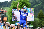 Julian Alaphilippe (FRA) Quick-Step Floors wins Stage 4 of the 2018 Criterium du Dauphine 2018 running 181km from Chazey sur Ain to Lans en Vercors, France. 7th June 2018.<br /> Picture: ASO/Alex Broadway | Cyclefile<br /> <br /> <br /> All photos usage must carry mandatory copyright credit (© Cyclefile | ASO/Alex Broadway)