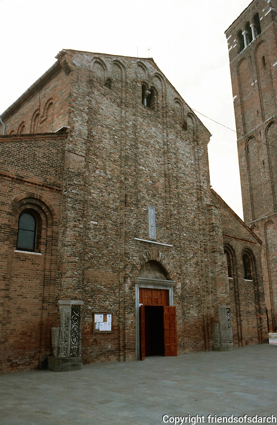 Venice:  S.S. Maria e Donato, facade.  Murano, Veneto-Byzantine, late 11th Century.