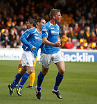Jamie Adams celebrates as his header for St Johnstone goes in to open the scoring