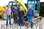 Michael Cremins, Tom Sugrue, Mike Corkery and Tom O'Sullivan at the Hoare Machinery open day on Saturday in Killorglin