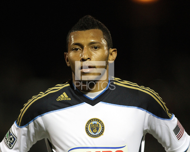 Carlos Valdes(5) of the Philadelphia Union during a play-in game for the US Open Cup tournament against D.C. United at Maryland Sportsplex, in Boyds, Maryland on April 6 2011. D.C. United won 3-2 after overtime penalty kicks.