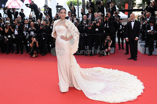 Sonam Kapoor at the 'Loving' screening during The 69th Annual Cannes Film Festival on May 16, 2016 in Cannes, France.<br /> CAP/LAF<br /> &copy;Lafitte/Capital Pictures /MediaPunch ***NORTH AND SOUTH AMERICA ONLY***