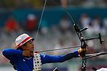 Kaori Kawanaka (JPN), <br /> AUGUST 21, 2018 - Archery : <br /> Women's Recurve Individual Ranking Round <br /> at Gelora Bung Karno Archery Field <br /> during the 2018 Jakarta Palembang Asian Games <br /> in Jakarta, Indonesia. <br /> (Photo by Naoki Morita/AFLO SPORT)