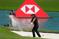 Patrick Reed (USA) on the 2nd during the final round at the WGC HSBC Champions 2018, Sheshan Golf CLub, Shanghai, China. 28/10/2018.<br /> Picture Fran Caffrey / Golffile.ie<br /> <br /> All photo usage must carry mandatory copyright credit (&copy; Golffile | Fran Caffrey)