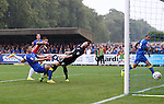 Sheffield United's Billy Sharp scoring his sides second goal during the League One match at the Kingsmeadow Stadium, London. Picture date: September 10th, 2016. Pic David Klein/Sportimage