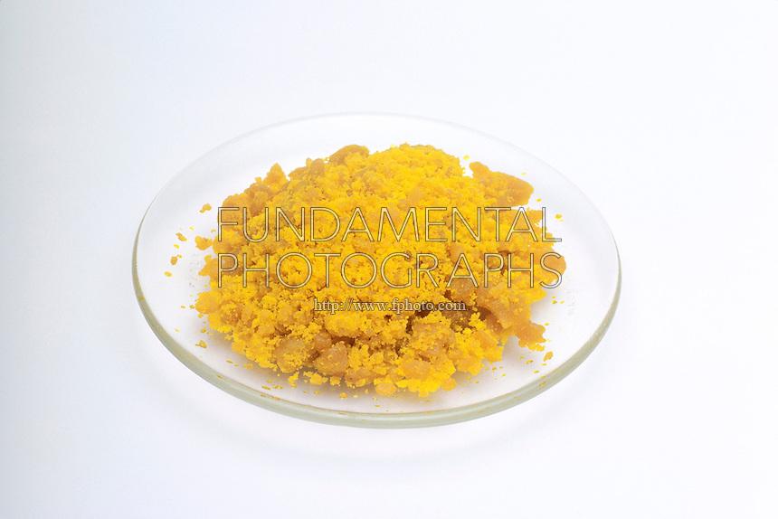 IRON (III) CHLORIDE<br /> Anhydrous Iron (III) Chloride<br /> Watchglass with compound  Iron (III) Chloride