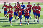 Isco alarcon, Suso, Saul Niguez, Savid Silva, Iago Aspas, Gerard Delufeu, Marco Asensio, Gerard Pique during training of the spanish national football team in the city of football of Las Rozas in Madrid, Spain. August 30, 2017. (ALTERPHOTOS/Rodrigo Jimenez)