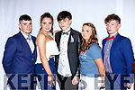 Reece Nelligan, Shauna Ahern, Kevin Keane, Saoirse Murphy and Ben Cooney at the Castleisland Community College fashion show on Thursday in the River Island Hotel