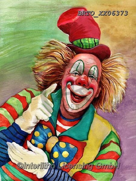 Alfredo, CHILDREN, KINDER, NIÑOS, paintings+++++,BRTOXX06373,#k#, EVERYDAY ,clowns