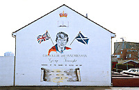 Graffiti painted on the side of a house in Northern Ireland..©shoutpictures.com..john@shoutpictures.com