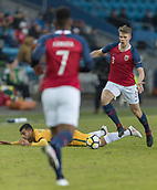 23rd March 2018, Ullevaal Stadion, Oslo, Norway; International Football Friendly, Norway versus Australia; Kristeroffer Vassbakk Ajer of Norway tackles Dimitri Petratos of Australia for the ball
