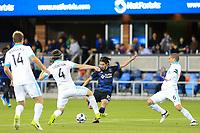 San Jose, CA - Saturday April 08, 2017: Jahmir Hyka  during a Major League Soccer (MLS) match between the San Jose Earthquakes and the Seattle Sounders FC at Avaya Stadium.