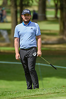 Tyrrell Hatton (ENG) reacts to his chip on to 11 during round 2 of the World Golf Championships, Mexico, Club De Golf Chapultepec, Mexico City, Mexico. 2/22/2019.<br /> Picture: Golffile | Ken Murray<br /> <br /> <br /> All photo usage must carry mandatory copyright credit (&copy; Golffile | Ken Murray)