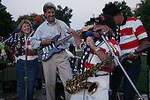 Jefferson City, Missouri.USA.August 5, 2004..Sen. John Kerry and Sen. John Edwards accompanied by their wives begin a whistle stop train tour of the USA...