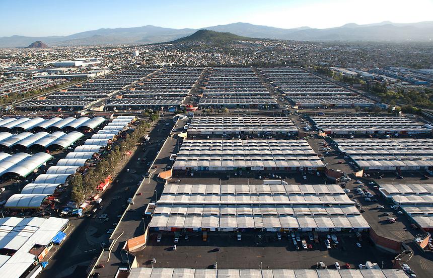 Central de abastos. Aerial photos of Mexico City, Mexico