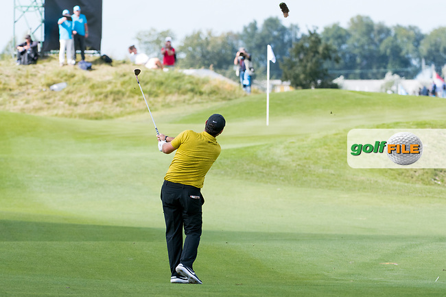Patrick Reed (USA) in action on the 8th hole during the 1st round at the KLM Open, The International, Amsterdam, Badhoevedorp, Netherlands. 12/09/19.<br /> Picture Stefano Di Maria / Golffile.ie<br /> <br /> All photo usage must carry mandatory copyright credit (© Golffile | Stefano Di Maria)