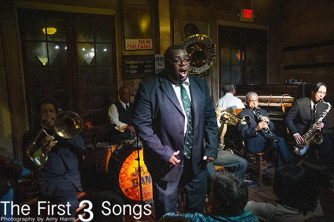 Ronell Johnson of the Preservation Hall Jazz Band performs at Preservation Hall in New Orleans, LA.