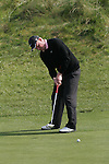 Richard Finch putting his second shot on the 15th hole during day two of the 3 Irish Open..Pic Fran Caffrey/golffile.ie